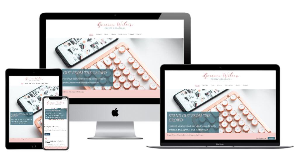 gemma wilson pr - website layout